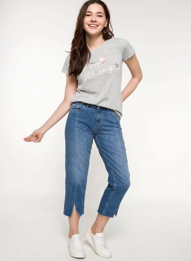 DeFacto Mary Straight Denim Pantolon Mavi